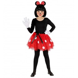 Minnie egér jelmez szett gyerekeknek, tütü és egér fülek