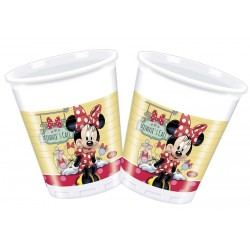 Minnie egér pöttyös parti pohár - 200 ml, 8 db-os