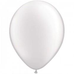 11 inch-es Pearl White Kerek Lufi
