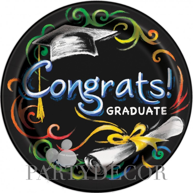 Congrats Graduate Ballagási Parti Tányér 8 db-os