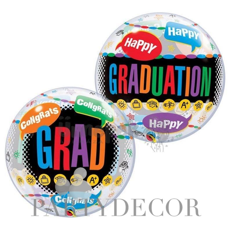 Ballagási Happy Graduation Feliratos Lufi 56 cm-es