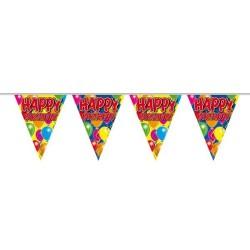Happy Birthday Feliratos Szülinapi Zászlófüzér - 10 m