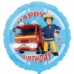 Születésnapi Sam A Tűzoltó Fólia Lufi 46 cm