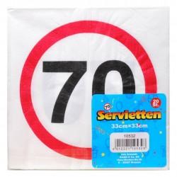 Happy Birthday 70-es Sebességkorlátozó Szülinapi Parti Szalvéta - 33 cm, 20 db-os