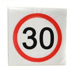 Happy Birthday 30-as Sebességkorlátozó Szülinapi Parti Szalvéta- 33 cm, 12 db-os