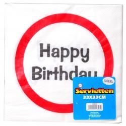 Happy Birthday Sebességkorlátozó Szülinapi Parti Szalvéta - 33 cm, 20 db-os