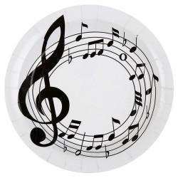 Hangjegy mintás Parti Tányér, 10 db-os