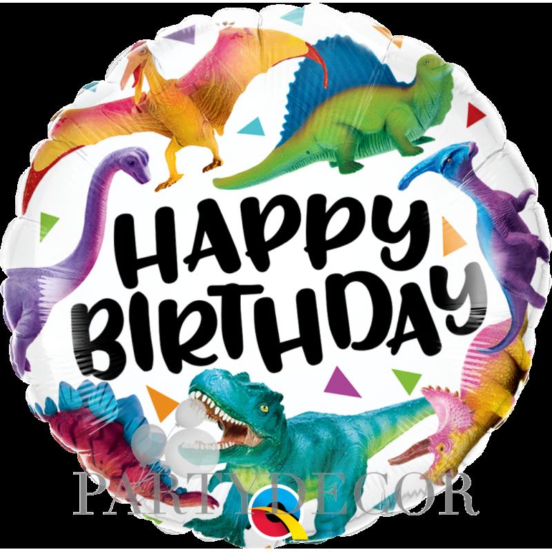 Születésnapi Dinoszauruszos Fólia Lufi