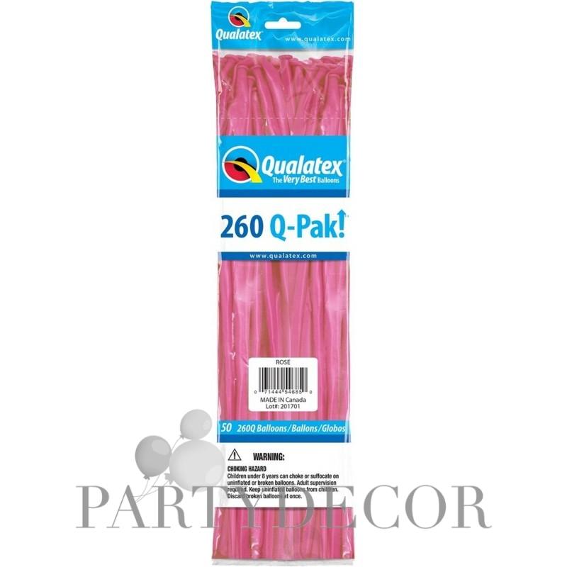 Rózsaszín Party Modellező lufi 260Q, 50 db