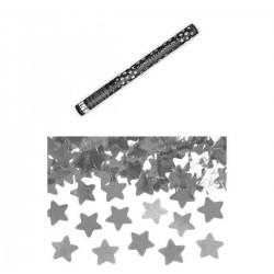 Ezüst Csillagokat Kilövő Konfetti Ágyú, 60 cm-es