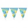 Boldog 1. Szülinapot Lufis Kék Zászlófüzér 5,5 m