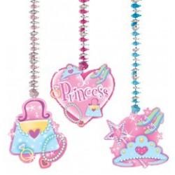 Hercegnős (Princess) Függő Dekoráció - 76 cm, 3 db-os