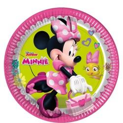 Minnie egér parti tányér - 23 cm, 8 db-os