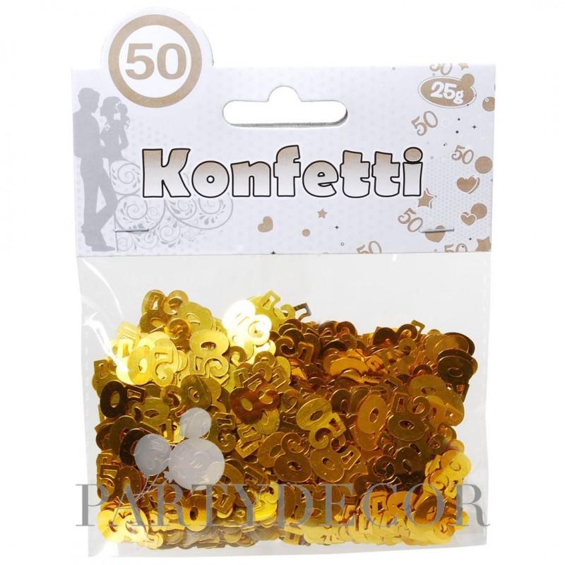 Arany Színű 50-es Számos Konfetti - 25 gramm