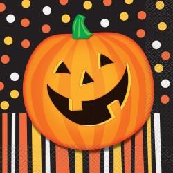 Mosolygó Tök Mintás Szalvéta Halloweenre