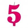 5-ös Csillagszórós Rózsaszín Szülinapi Szám Tortagyertya