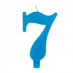 7-es Csillagszórós Kék Szülinapi Szám Tortagyertya