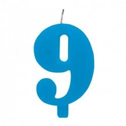 9-es Csillagszórós Kék Szülinapi Szám Tortagyertya