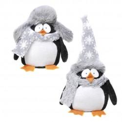 Plüss Pingvin Sállal És Sapkával