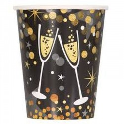 Glitteres, Happy New Year Pohár Szilveszterre - 270 ml, 8 db-os