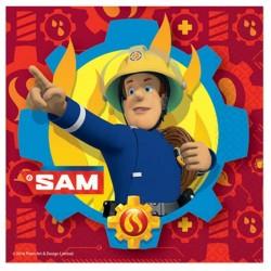 Fireman Sam - Sam a Tűzoltó Parti Szalvéta - 20 db-os