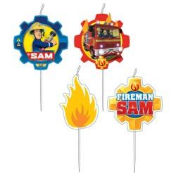 Fireman Sam - Sam A Tűzoltó Parti Gyertya - 4 db-os