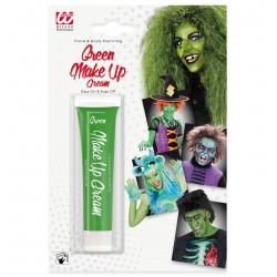 Zöld színű arcfesték tubusban