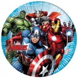 Bosszúállók - Mighty Avengers Parti Tányér - 23 cm, 8 db-os