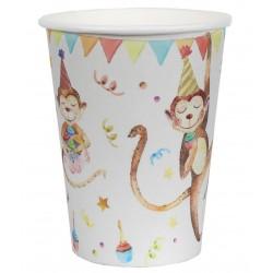 Vidám állatos, lufis születésnapi parti pohár 10 db-os