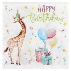 Vidám állatos, lufis születésnapi parti szalvéta 20 db-os