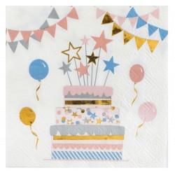 Cica parti születésnapi szalvéta 20 db-os