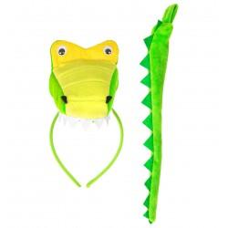 Krokodil jelmez szett -...