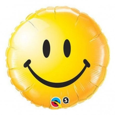 18 inch-es Smile Face Yellow Héliumos Fólia Lufi