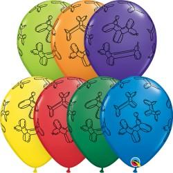 Lufikutya Mintás- Balloon Dogs Carnival Lufi
