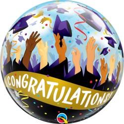 Ballagási Gratulálok- Congratulations Feliratos Lufi 56 cm-es
