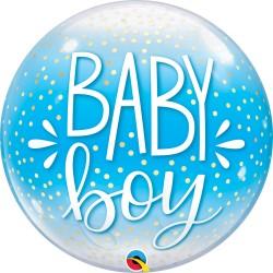 Baby Boy Feliratos Lufi Babaszületésre 56 cm
