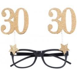30-as Szülinapi Parti Szemüveg Glitteres Arany