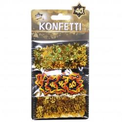 Arany Színű 40-es Számos Parti Konfetti - 28 gramm