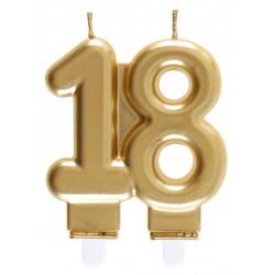 18-as Születésnapi Tortagyertya Arany Színű
