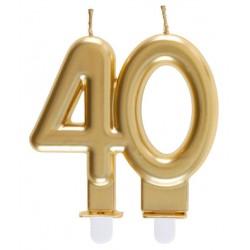 40-es Születésnapi Tortagyertya Arany Színű