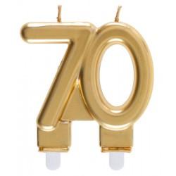 70-es Születésnapi Tortagyertya Arany Színű
