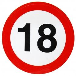 18. Születésnapi Sebességkorlátozós Matrica 1 db