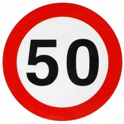 50. Születésnapi Sebességkorlátozós Matrica 1 db