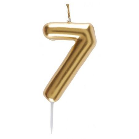 7-es Születésnapi Tortagyertya Arany Színű