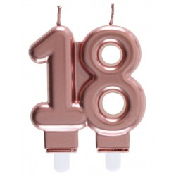18-as Születésnapi Tortagyertya Rosegold Színű