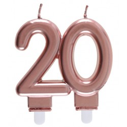 20-as Születésnapi Tortagyertya Rosegold Színű