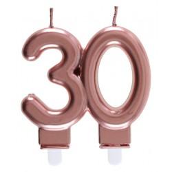 30-as Születésnapi Tortagyertya Rosegold Színű