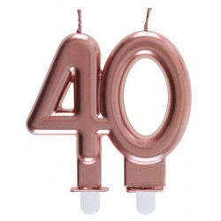 40-es Születésnapi Tortagyertya Rosegold Színű
