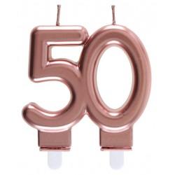 50-es Születésnapi Tortagyertya Rosegold Színű