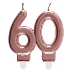 60-as Születésnapi Tortagyertya Rosegold Színű